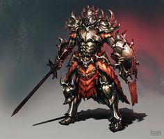 Dragon Skirt Knight by rawwad