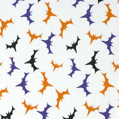 Halloween Cotton Spandex - Bats