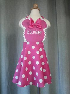 Toddler Minnie Mouse Apron