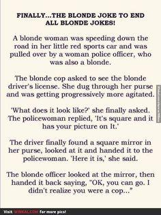Finally...The Blonde Joke To End All Blonde Jokes