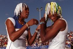 Venus & Serena..Y'all remember them beads swear I used to watch their matches just to hear them loud ass things lol