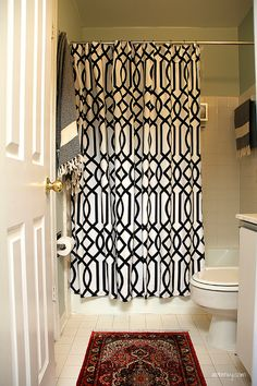 black and white raindrop shower curtain | home | pinterest
