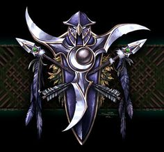"""The symbol of the night elves, from """"Warcraft III: Reign of Chaos,"""" a real-time strategy game released by Blizzard Entertainment for the PC in 2002."""