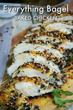 Everything Bagel Baked Chicken with Homemade Everything Bagel Recipe. Bagel Baked Chicken with Homemade Everything Bagel Recipe. Cooking Chef Gourmet, Easy Cooking, Cooking Recipes, Healthy Recipes, Diabetic Dinner Recipes, Vegetarian Recipes, Diabetic Desserts, Cooking Hacks, Healthy Breakfasts