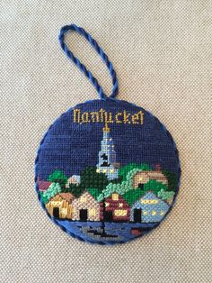 Nantucket ornament ~ Canvas design by Silver Needle