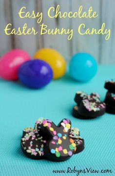 Easy Chocolate Easter Bunny Candies - Robyn's View
