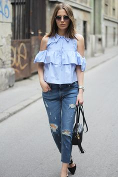Fashion and style: Blue shirt