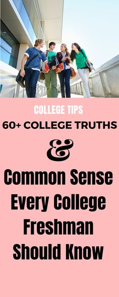 College life is all fun and games until you screw up. Here are college life truths and common sense every college freshman should know before stepping foot on campus. College Freshman Tips, Girl College Dorms, College Usa, College Dorm Essentials, College Checklist, College School Supplies, College Majors, Online College, College Hacks