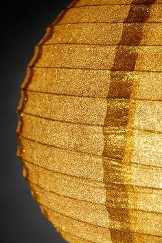 "12"" Gold Glitter Round Paper Lanterns    $5 each / 6 for $4.50 each"