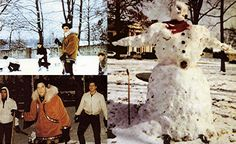 There had been an unusual 4 inch snowfall and Elvis and the guys were having a snowball fight in front of Graceland.
