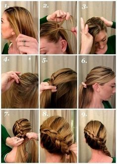 how to make side braid tutorials