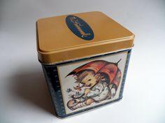 Vintage Hummel Storage Tin MJ Hummel Collectable by YellowMod