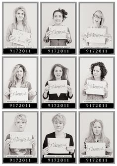 Now, what do you do after having a good night with girlfriends? Snap a mug shot of course! We love this idea, especially for after the bachelorette party.