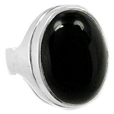 Black Onyx 925 Sterling Silver Ring Jewelry s.7 BOXR886 - JJDesignerJewelry