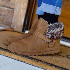 Faux Fur winter booties by BEARPAW