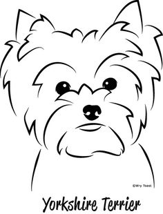 Yorkshire terriers are a little type of 'toy pets' weighing a meager 7 pounds as adults. Their size is because of their origins as designated vermin killers. Dog Line, Bulldog Breeds, Rottweiler Puppies, Dog Teeth, Copics, Dog Toys, Painted Rocks, Creations, Sketches