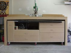 Moveable table saw & storage