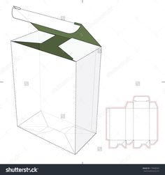 Tall Box With Auto-Lock Bottom And Die-Cut Pattern Stock Vector Illustration 179040263 : Shutterstock