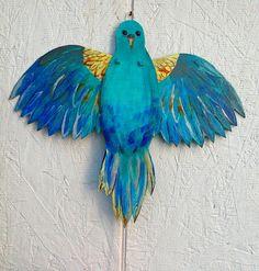 that artist woman: Articulated Bird Puppet