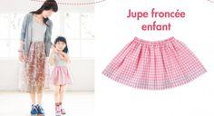 Couture facile : une jupe froncée pour petite fille