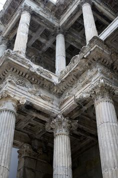 A section of the Market Gate of Miletus. Pergamon museum.