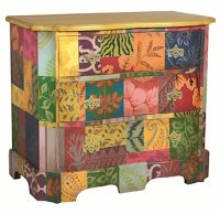 Colorful Three Drawer Chest - Elegant Finds for Your Home