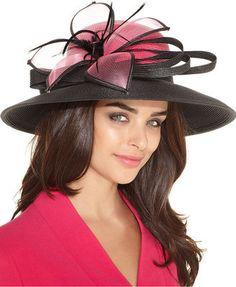 August Hats August Hat, Jaqueline Wide Brim Church Hat
