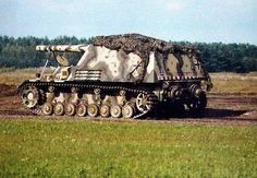 """Hummel (German: """"bumblebee"""") was a self-propelled artillery gun based on the Geschützwagen III/IV chassis, armed with a 15 cm howitzer. It was used by the German Wehrmacht during the Second World War from early 1943 until the end of the war. The full designation was Panzerfeldhaubitze 18M auf Geschützwagen III/IV (Sf) Hummel, Sd.Kfz. 165. On February 27, 1944, Hitler ordered the name Hummel to be dropped as being inappropriate for a fighting vehicle."""