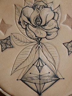 Botanical & geometric 1-Punctured Artefact