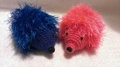 Crochet Amigurumi hedgehog ... Pattern comes from janet mcmahon yellow pink and sparkly