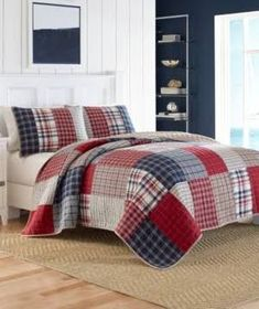 Nautica Ansell Full/Queen Quilt - Red