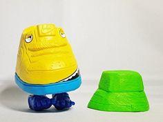 """Michael Lau Crazysmiles Block figure Mr. Shoe Sample SHOE SHOP - AIR FORCE Limited Edition Yellow Smile 3"""" Figure"""