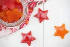 Healthy Sour Gummy Stars (Five Minute Prep)  Gelatin helps with leaky gut, bowel transit, sleep, stretch marks skin and hair, etc..