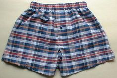 """Men's Classic Boxers - Free Pattern Sz. 37"""" Hips + Tutorial. This site has lots of other women's/men's underware patterns also."""