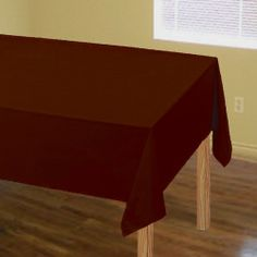"Solid Plastic Tablecover - 54"" x 108"" - Chocolate Brown . $3.49. Solid Plastic Tablecover - 54"" x 108"" - Chocolate Brown is the perfect addition to your baby shower. Price: $3.49 - Solid Plastic Tablecover - 54"" x 108"" - Chocolate Brown. We are a one stop baby shower shop that offers everything you need for your party; including baby shower invitations, favors, tableware, games and more!"