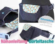 Nähanleitungen Taschen - Nähanleitung Gürteltasche Bauchtasche nähen Gassi - ein Designerstück von mrs_b bei DaWanda