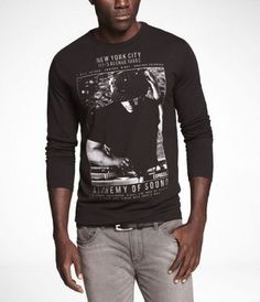LONG SLEEVE GRAPHIC TEE - ALCHEMY OF SOUND at Express