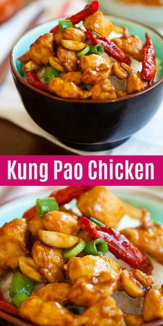 Kung Pao Chicken Kung Pao Chicken,Asian Food Kung Pao Chicken is a Chinese takeout classic loaded with spicy chicken, peanuts, vegetables in a mouthwatering Kung Pao sauce. This easy homemade recipe is healthy, low. Asian Food Recipes, Chinese Chicken Recipes, Healthy Chicken Recipes, Vegetarian Recipes, Cooking Recipes, Kung Pao Chicken Recipe Easy, Homemade Chinese Food, Recipe For Kung Pao Sauce, Healthy Chinese Food