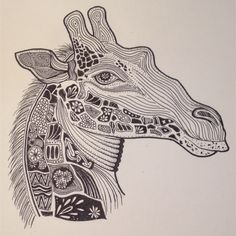 Sharpie giraffe Horse Outline, Sharpie, Giraffe, Coloring Pages, Horses, Abstract, Artwork, Quote Coloring Pages, Summary