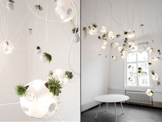 Light Fittings, Light Fixtures, Bocci Lighting, Flower Lamp, Modern Planters, Berlin Germany, Light Up, Interior Architecture, Showroom