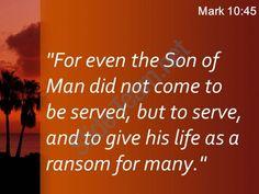 mark 10 45 the son of man did powerpoint church sermon Slide03  http://www.slideteam.net/