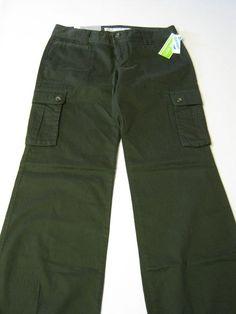 Womens Pants 4 Old Navy Harem Low Rise Wide Leg Forest Green NEW #OldNavy #HaremPants