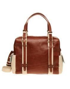 MARY MADE | Natural Brown Alexi Bag with Bone Trim | Baby Travel | kinderelo.co.za