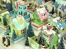 This site has loads of Glitterhouse info, links plans for making them and assemble a little Christmas village, blogs with inspiration, etc.