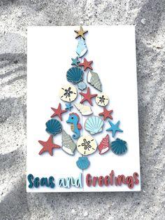 Dollar Store Christmas, Christmas Signs, Christmas Decorations, Diy Workshop, Sanibel Island, Love Craft, Beautiful Beach, Wood Pieces, Paint Brushes