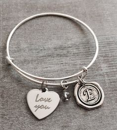 LOVE YOU I love you Silver Jewelry Mom Grandma Daughter by SAjolie