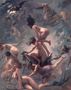 19世紀のスペインの画家Luis Ricardo Falero (ルイス・リカルド・ファレロ: 1851-1896) の作品群。