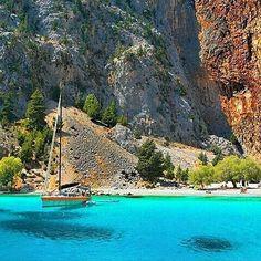 Agios Georgios Disalonas. The Most Beautiful Beach in the Island of Simi, Dodecanesse, Greece