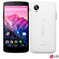 """Smartphone LG Nexus 5 Branco com Android ™ 4.4, Processador Qualcomm SnapDragon™, Câmera de 8 MP, Tela Smart TV LG 5"""" Full HD, Wi-Fi e 4G - ..."""