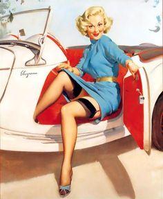 Let's Go - Gil Elvgren 1957